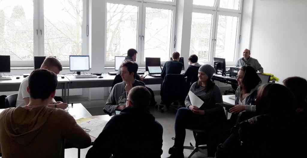 Schüler der Digitalwerkstatt